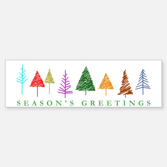 Christmas Trees Sticker (Bumper)