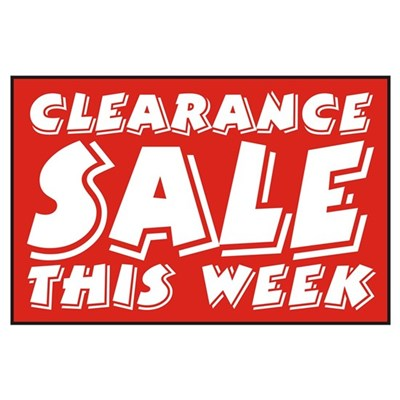 Clearance SALE Week Poster