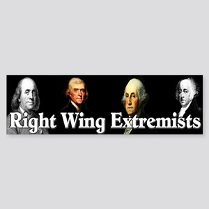 """Right Wing Extremists"" Sticker (Bumper)"