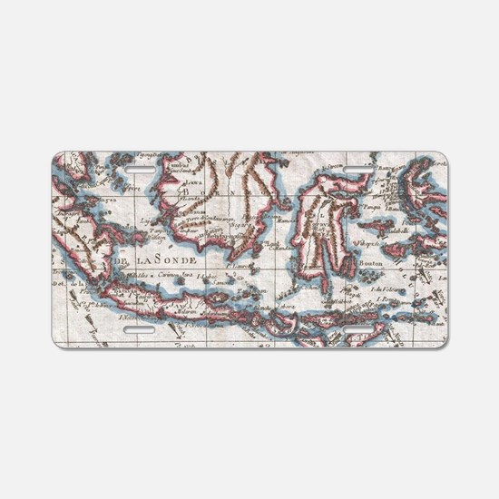 Vintage Map of Indonesia (1 Aluminum License Plate