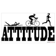 Attitude Triathlon Poster