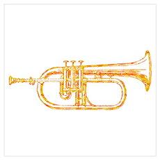 Optical Sunburst Trumpet Poster