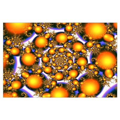 """Center Me"" Fractal Art Prin Poster"