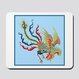 Colorful Chinese Peacock Mousepad