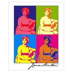 Jane Austen Pop Art Canvas Art