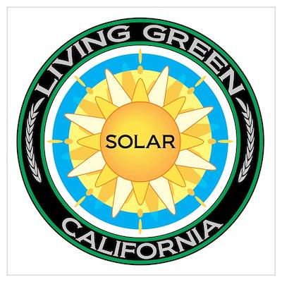 Living Green California Solar Energy Poster