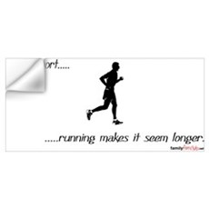 Life is Short Running Wall Decal