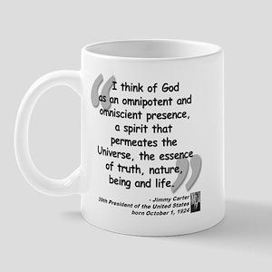 Carter God Quote Mug