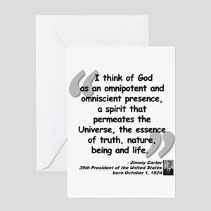 Carter God Quote Greeting Card