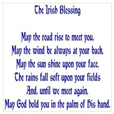 The Irish Blessing Poster