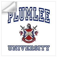 PLUMLEE University Wall Decal