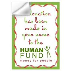 Human Fund Donation Wall Decal
