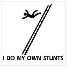 Fall down a ladder Stunts Poster