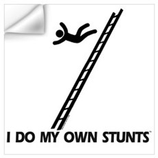 Fall down a ladder Stunts Wall Decal