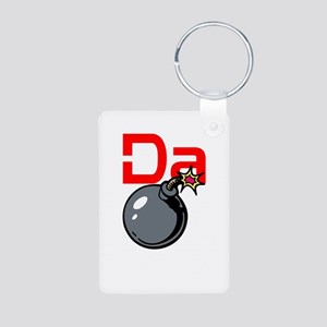 Da Bomb Aluminum Photo Keychain