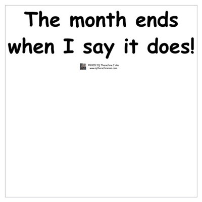 The month ends... Poster