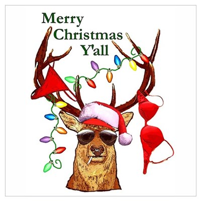 smoking redneck christmas poster - Redneck Christmas
