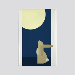 Moon Bunny Rectangle Magnet