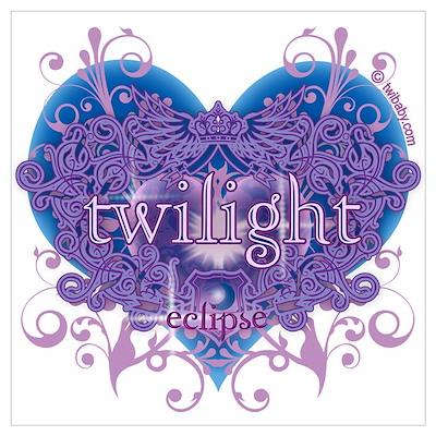 Twilight Eclipse Purple Heart Poster