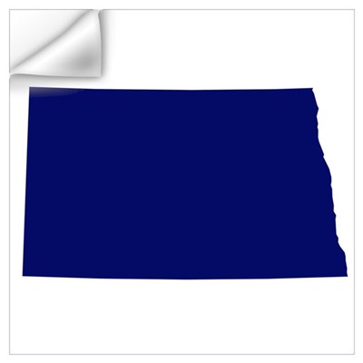North Dakota - Blue Wall Decal