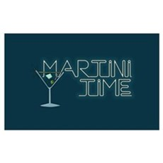 Martini Time Retro Lounge Poster