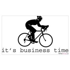 It's Business Time Cycling Canvas Art