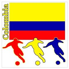 Colombia Soccer Canvas Art