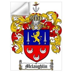 McLaughlin Family Crest Wall Decal