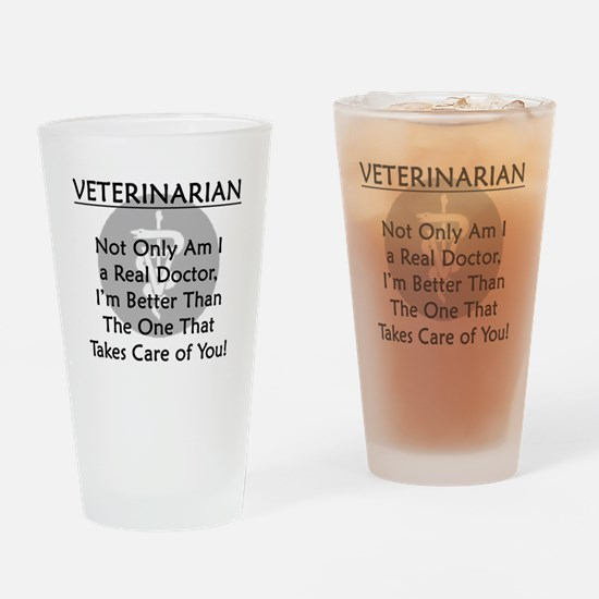 Veterinarian A Real Doctor Drinking Glass