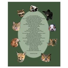 Animal Rescuer Poem Poster