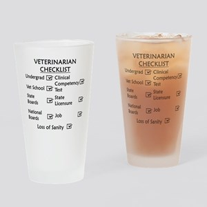 Veterinarian Checklist Drinking Glass
