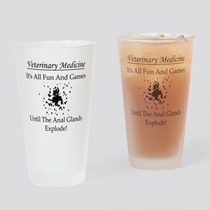 Anal Gland Design Drinking Glass