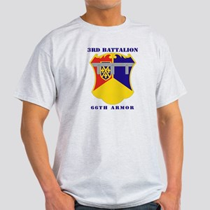 DUI - 3rd Battalion, 66th Armor with Text Light T-