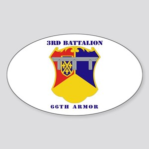 DUI - 3rd Battalion, 66th Armor with Text Sticker