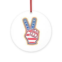 HAND PEACE SYMBOL Ornament (Round)