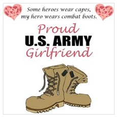 Proud US Army Girlfriend Framed Print