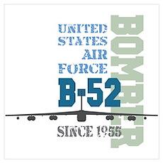 B-52 Bomber Military Aircraft Poster