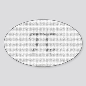 Pi Sticker (Oval)
