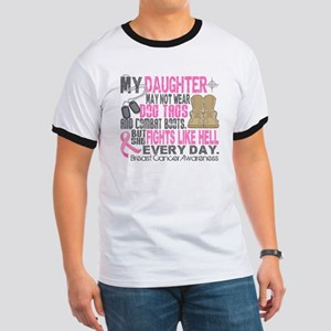 Dog Tags Breast Cancer Ringer T