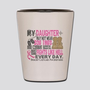 Dog Tags Breast Cancer Shot Glass