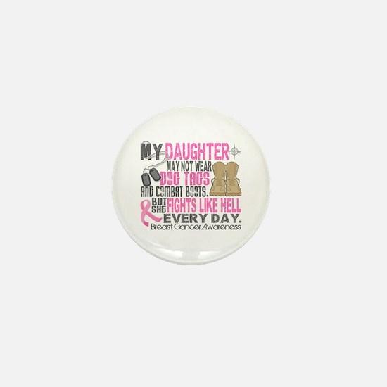 Dog Tags Breast Cancer Mini Button