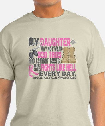 Dog Tags Breast Cancer T-Shirt