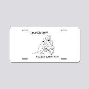 Veterinary Technician Design Aluminum License Plat
