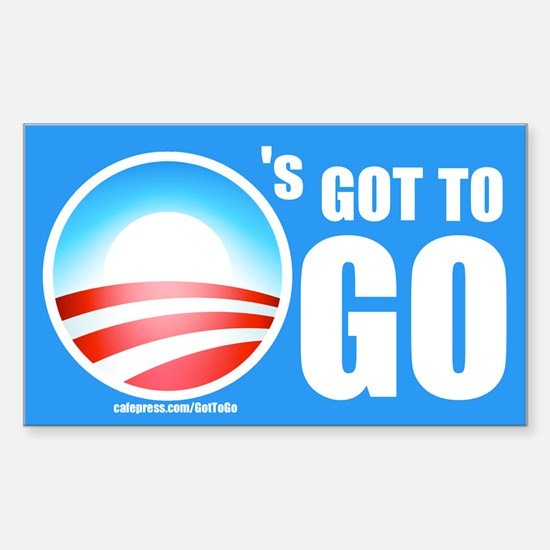 O's Got To Go Rectangle Decal