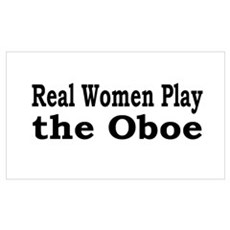 Real Women Play Oboe Canvas Art