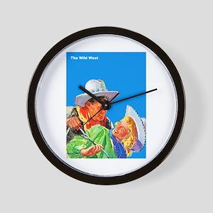 Wild West Cowboy & Cowgirl Love Wall Clock