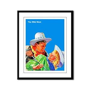 Wild West Cowboy & Cowgirl Love Framed Panel Print