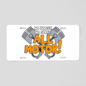 All Motor Aluminum License Plate