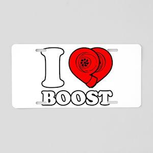 I Heart Boost Aluminum License Plate
