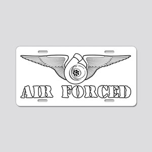 Air Forced Aluminum License Plate